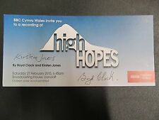 "Signed Ticket for BBC Wales live recording ""High Hopes"" (based on Dylan Thomas)"