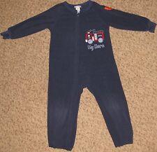 Blue Carters 3T Carters Fireman Zipper Front Pajamas Sleeper