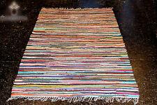 240x170cm Handgewebter Fleckerl Teppich Kelim 2000g/m Baumwolle NEU TOP QUALITÄT