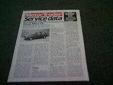 Juin 1985 NISSAN MICRA GL Motor Trader Service Dossier Des Données-Brochure