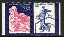 TIMBRE 2991a + VIGNETTE NEUF XX LUXE  - JOURNEE DU TIMBRE 1996 - SEMEUSE
