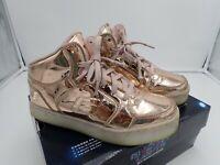 Skechers Kids Energy Lights-Dance-N-Dazzle Sneaker,Rose Gold 5 M Big Kid