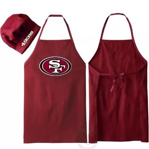 San Francisco 49ers NFL Barbecue Tailgating Apron & Chef's Hat