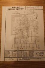 daimler other car manuals \u0026 literature for sale ebaydaimler conquest roadster 1955 home \u0026 export original lucas wiring diagram