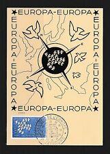 carte   1er jour  conseil de l' Europe Strasbourg     1961