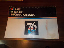 1976 AMC Product Informationa Book / Dealer Album / Color Upholstery/ Data Book