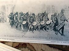 75-6 ephemera picture ww1 1916 french band in champgne
