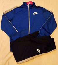 NIKE JUNIOR KIDS ZIP UP TRACKSUIT BLUE / NAVY  SMALL 8-10 YRS  MED 10-12 YRS