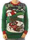 Ugly Christmas Sweater Men's Reindeer Relaxing on Golf Course LED Light Up
