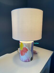Kate Spade Paintball Floral Watercolor Table Decor Lamp