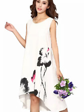 Ladies swing multi length dress loose fitting sun dress holiday flowing occasion