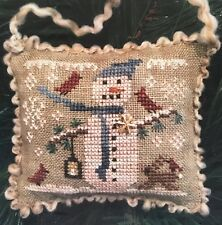 Snowy Friends Ornament Homespun Elegance Cross Stitch Pattern