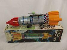 1960's Yoshino Juguetes Ky Japón Con Pilas Frontera Espacial Hojalata Toy