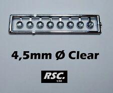 RING LIGHTS 4,5mm CLEAR EMBOSSED LENS 8 UNITS - FAROS FARE FARO RESIN SLOT KIT