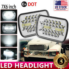 """2pcs 7x6"""" LED Headlights Headlamp for STERLING TRUCK M7500 A9500 LT9500 DAY CAB"""