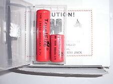 2 batterie IMR 18350+18650 trustfire con pin 800 +2000 mAh  con custodia  8 A