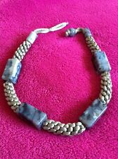 lola rose grey agate necklace - new