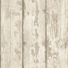 WHITE WASHED WOOD WALLPAPER ROLLS - ARTHOUSE 694700 NEW PANELS