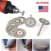 10PCS 22mm Diamond Cutoff Wheel Circular Saw HSS Rotary Blades Cutting Discs