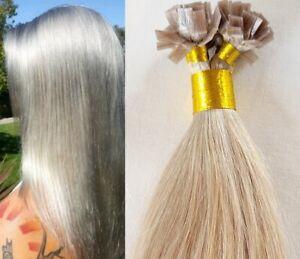 18″,22″ 100 grams ,Flat Tip Keratin Remy Human Hair Extensions Light Ash Blonde