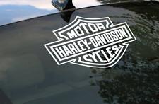 Harley Davidson Logo Cutz Rear Window Decal Motorcycle Truck Car Sticker - LW