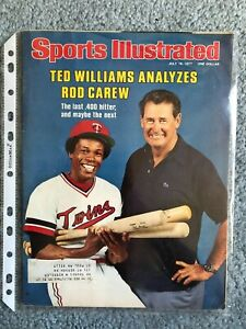 Sports Illustrated Magazine, July 18, 1977 - Ted Williams Analyzes Rod Carew