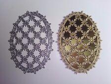 Damero Oval Flor De Corte Die tarjetas colección de recortes Hogar Decoración Craft Arte