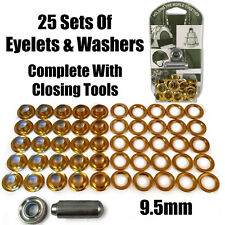 9.5mm Eyelet & Ring Washer Sail Canvas Canopy Awning Repair Kit Set Tools Brass