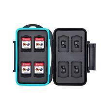 JJC MC-NSMSD16 Black Hard Case Nintendo Switch Game Card x8 + MSD Memory Card x8