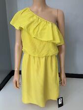 Tibi Womens 100% Silk Dress, Yellow, Size Uk 8, Us4, New, Bnwt