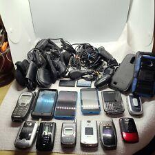 Vintage cell phone lot Flip Blackberry Kyocera Nokia Motorolla Alltell Chargers