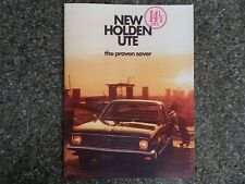 HOLDEN 1970 HG UTE SALES BROCHURE. 100% GUARANTEE