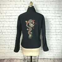 Obermeyer Womens Jacket Shell Coat Gold Red Dragon Layer Ski Snow Rare Size 8