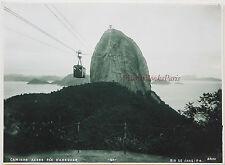 Brasil Brésil Rio de Janeiro Caminho aereo Pelo Pao D'Assucar Vintage Silver