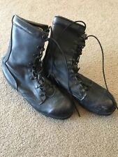 Army Combat Boots 5.5 R Black Leather Steel Toe RO-Search J 7-86 VINTAGE 1986