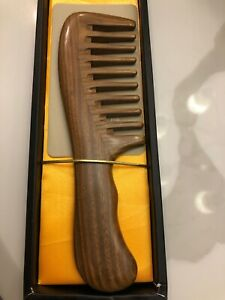Breezelike Hair Comb for Detangling - Wide Tooth Wood Comb for Curly Hair
