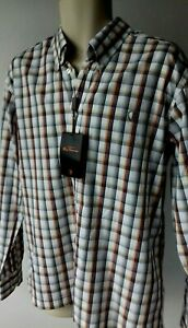 Size L BEN SHERMAN Check Chest 46 Inches Union Fit / Easy Fit Shirt  NEW