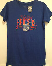 NEW YORK RANGERS Women's XL EX LG Ted Shirt Cap Sleeve Old Time Hockey Apparel