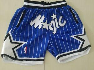 Orlando Magic Retro Men's Blue with Pockets Basketball Shorts Size S-XXL
