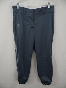 ADIDAS Mens M / MEDIUM Gray (Actual: 34W x 23L) Baseball - Softball Pants
