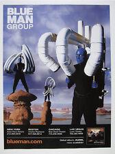 2000 Blue Man Group men pvc tube instruments photo vintage print Ad