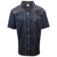 Columbia Men's Navy Blue Plaid Thirty Mile Ledge EXS S/S Woven Shirt (466)