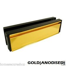 DOOR LETTERBOX LETTER PLATE - 10/12 INCH. ALL COLOURS - ANTI VANDAL, ANTI SNAP