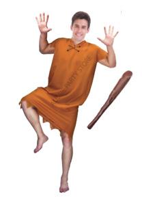 Adult Barney Rubble Costume The Flintstones Cosplay Fancy Dress Fred Flintstone