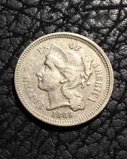 1865 Three Cent Nickel - XF - INV#6323
