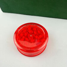 The transparent plastic Red 3PC 6mm Herb tobacco Grinder Crusher Mill