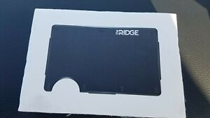NEW Ridge Minimalist Aluminum Black Wallet W/ Cash Strap RFID Metal