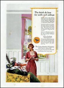 1914 Lowe Brothers company Victorian era women vintage art Print Ad