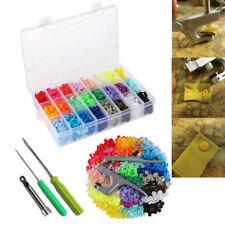 24 Colours 360 Sets Kam Snaps T5 Plastic Fasteners Snap Plier Kit Tool