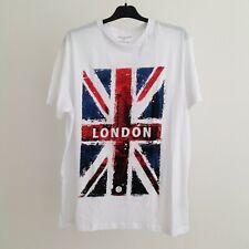 Union Jack London men's t-shirt Size XL white Primark